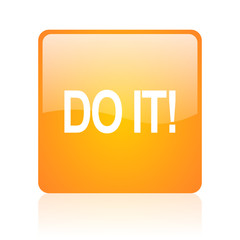 do it computer icon on white background