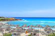 A view of a azzure water and Nissi beach in Aiya Napa, Cyprus - 66579932