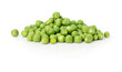 green peas on the white background