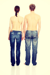 Zoung couple in jeans