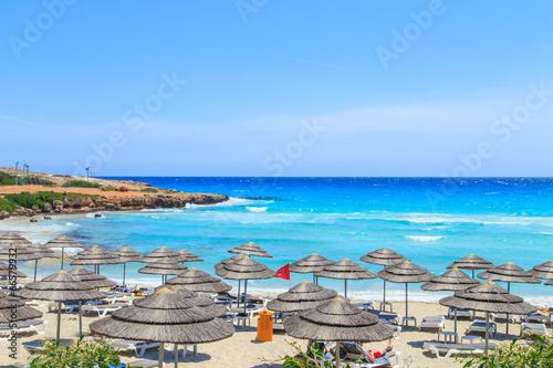 Plexiglas Cyprus A view of a azzure water and Nissi beach in Aiya Napa, Cyprus