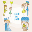Bride and Groom - Wedding Doodle Set - for Scrapbook, Invitation
