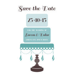 Wedding Cake Invitation - Save the Date - for design, scrapbook