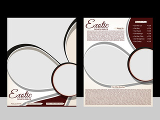 Exotic Parlor Flyer Template
