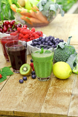 Healthy drinks from organic fruits and vegetables