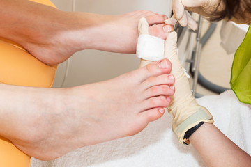a pedicure foot
