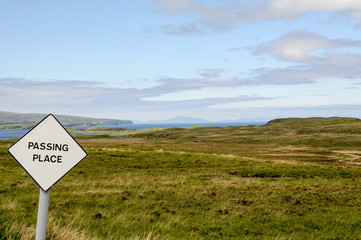 Passing Place Sign, Isle of Skye, Scotland