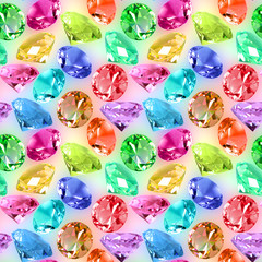 Seamless pattern of motley crystals