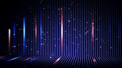 blue and orange stripes and particles loopable background
