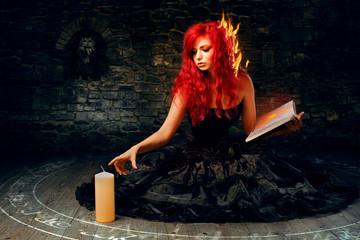 Sorceress trying to create fire
