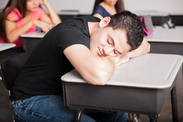 Napping and dreaming during class