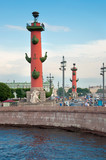 Rostral columns in Saint Petersburg