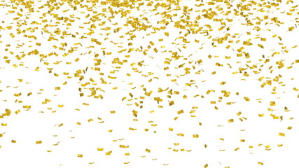 Gold confetti - isolated with alpha mask