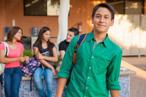 Handsome high school student - 66584746