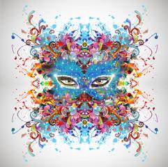 Абстрактная маска карнавала глазами