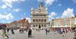 Leinwandbild Motiv Market square, Poznan, Poland -Stitched Panorama