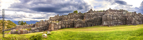 Walls of Sacsayhuaman Fortress, in Cusco, Peru - 66585353
