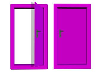 pembe renkli kapı