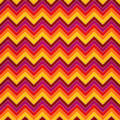 Chevron seamless background with zig zag red, yellow, pink and o