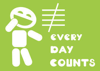 every day counts motivational quote