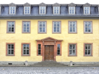 Fassade des Goethe Nationalmuseum am Frauplan  in Weimar