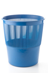 Office plastic blue garbage bin