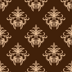 Brown and beige seamless pattern