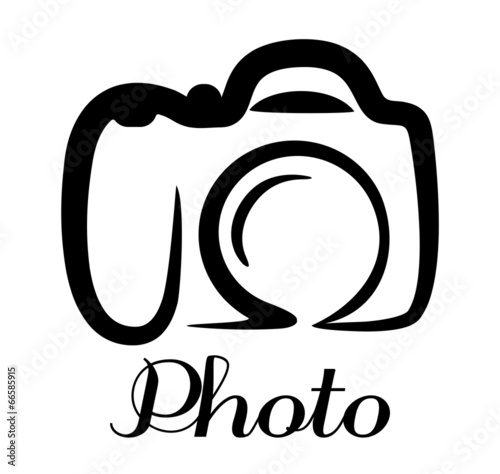 Photo camera emblem - 66585915
