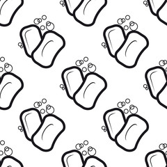 Soap seamless pattern