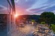 Hotel balcony at sunrise in Paleokastritsa - 66586373