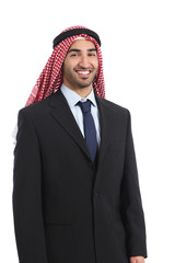 Arab saudi emirates businessman posing smiling standing