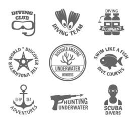 Diving label set