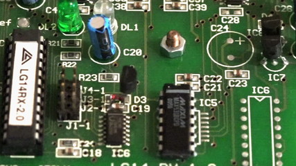 old electronic board
