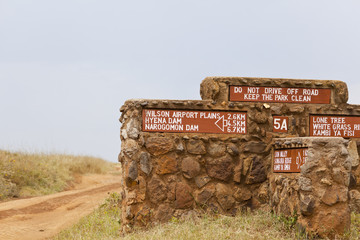 Nairobi National Park Road Sign