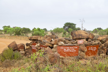Tsavo National Park Road Sign