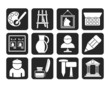 Silhouette Fine art objects icons