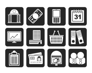Silhouette Business and finance icons
