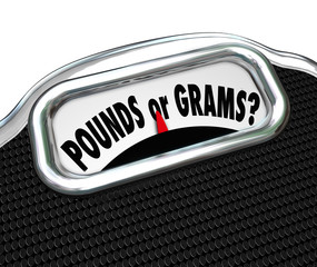 Pounds or Grams Words Scale Unit Measurement Standards