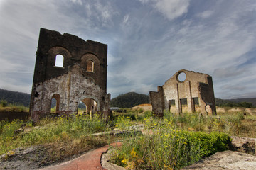 The ruins of Lithgow blast furnace, Australia.