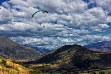 Paragliding above Arrowtown NZ