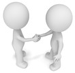 Handshake. The Dudes shaking hands. Top view.