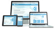 Responsive Web Design. Devices No branded. Perspective view.
