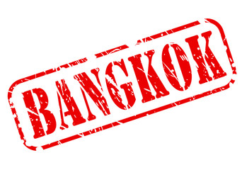 Bangkok red stamp text