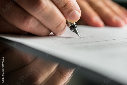 canvas print picture Signing business contract