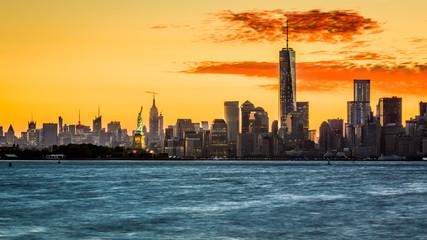 Sunrise over the Manhattan island