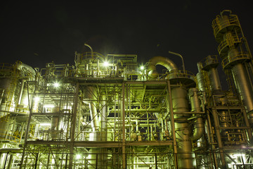 Energy, factory, night