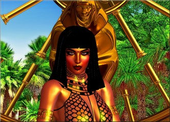 Egyptian Fantasy Woman with braids