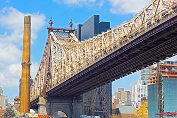 59th Street Bridge in spring - Manhattan, New York.