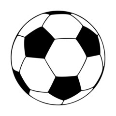 soccer ball, vector illustration