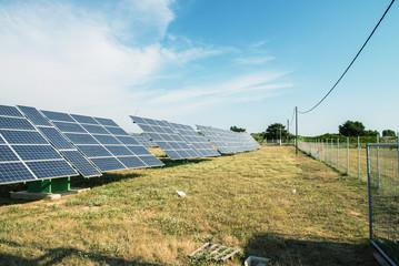 Solar panels for renewable electric energy production. Sustainab